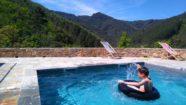 La piscine de la Peyrarié en bouée